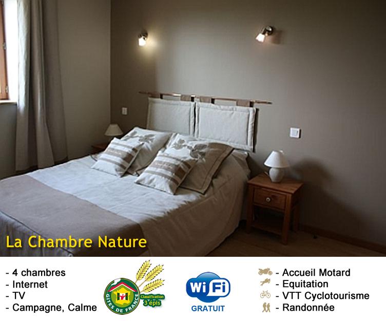 chambre nature chambres d 39 h tes. Black Bedroom Furniture Sets. Home Design Ideas