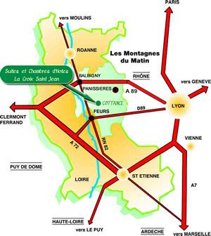 plan- La Croix Saint Jean - Chambres d'Hôtes -  Montagnes du matin
